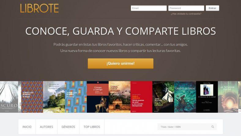 Librote, Red Social de Libros