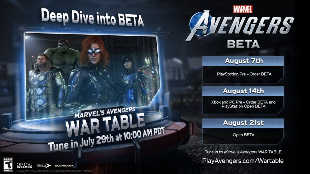 marvel's avengers beta