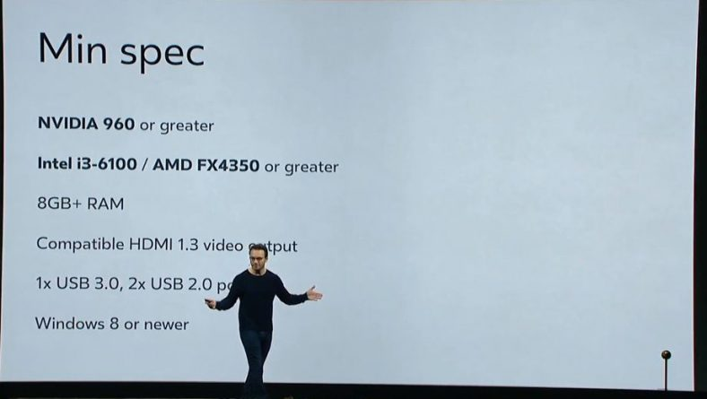 Oculus Rift spec mínimas a mejor precio