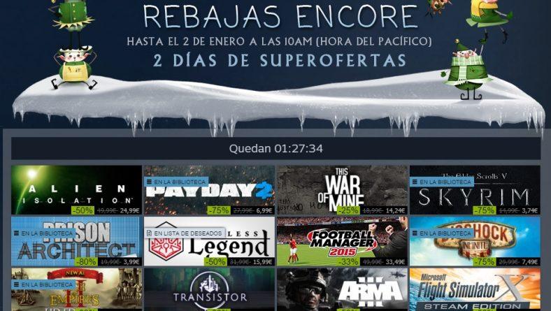 Feliz 2015 y último día de rebajas de Steam